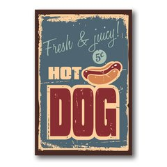 PLACA HOT DOG CLASSIC