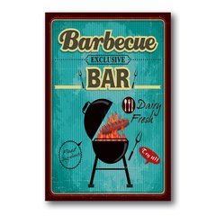 PLACA BARBECUE BAR
