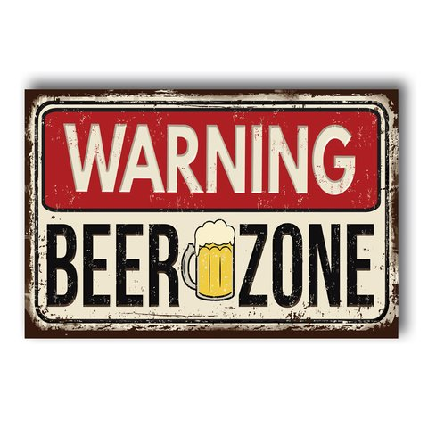 PLACA BEER ZONE