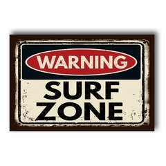 PLACA WARNING SURF ZONE