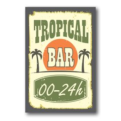 PLACA TROPICAL BAR