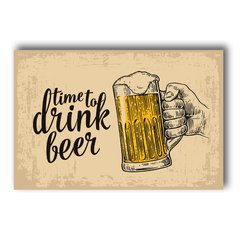 PLACA TIME DRINK BEER