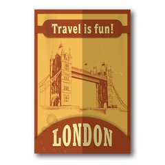 PLACA TRAVEL LONDON - comprar online