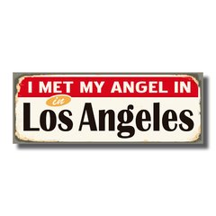 PLACA LOS ANGELES 40x15 cm - comprar online