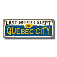 PLACA QUEBEC 40x15 cm na internet