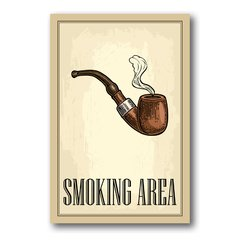 PLACA SMOKING AREA - comprar online