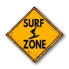 PLACA SURF ZONE - comprar online