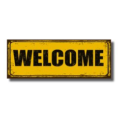 PLACA WELCOME 40x15 cm - comprar online