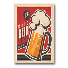PLACA COLD BEER 1967