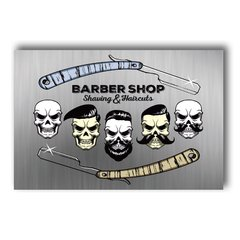 PLACA BARBER SHOP STYLE