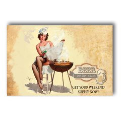 PLACA PIN UP BARBECUE