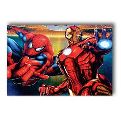 PLACA SPIDER & IRON MAN