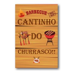 PLACA BARBECUE CHURRASCO!!