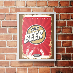 PLACA COLD BEER SINCE 1956 - comprar online
