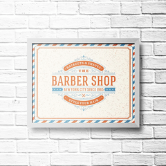 PLACA BARBER SHOP - comprar online
