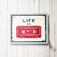 PLACA LIFE IS MIX TAPE - comprar online