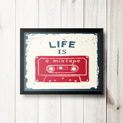 PLACA LIFE IS MIX TAPE na internet
