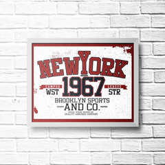 PLACA NEW YORK 1967 - comprar online