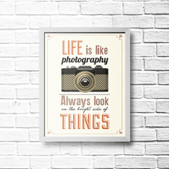 PLACA LIFE IS LIKE PHOTOGRAPHY - comprar online
