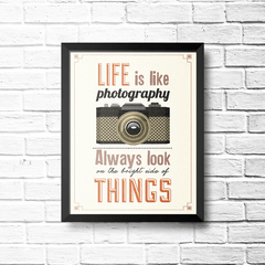 PLACA LIFE IS LIKE PHOTOGRAPHY na internet