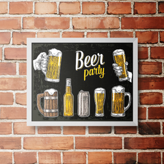 PLACA BEER PARTY BLACK - comprar online