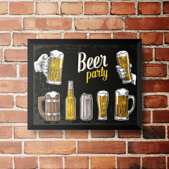 PLACA BEER PARTY BLACK na internet