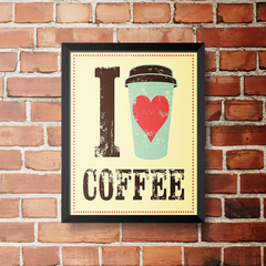 PLACA I LOVE COFFEE - comprar online