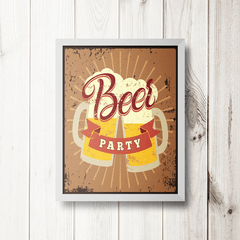 PLACA BEER PARTY - comprar online