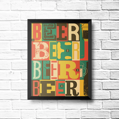 PLACA BEER COLORS - comprar online