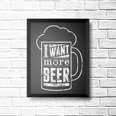 PLACA I WANT MORE BEER na internet