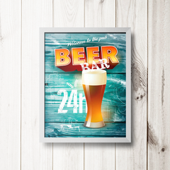 PLACA BEER BAR - comprar online