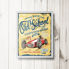 PLACA CAR OLD SCHOOL - comprar online
