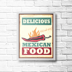 PLACA MEXICAN FOOD - comprar online