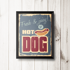 PLACA HOT DOG CLASSIC na internet