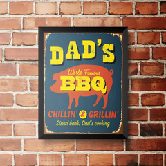 PLACA DAD'S BBQ na internet