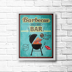 PLACA BARBECUE BAR na internet