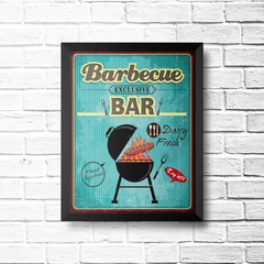 PLACA BARBECUE BAR - comprar online