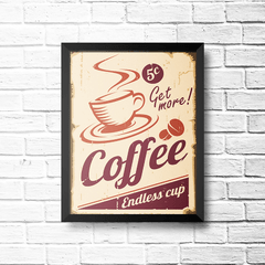 PLACA COFFEE ENDLESS CUP na internet