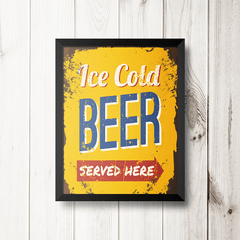 PLACA ICE COLD BEER na internet