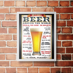 PLACA BEER AROUND - comprar online