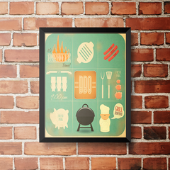 PLACA BBQ GRILL MENU na internet
