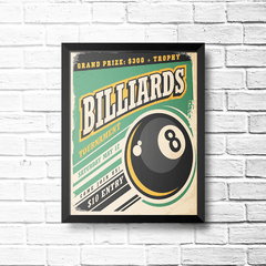 PLACA BILLIARDS - comprar online