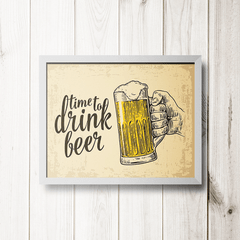 PLACA TIME DRINK BEER - comprar online