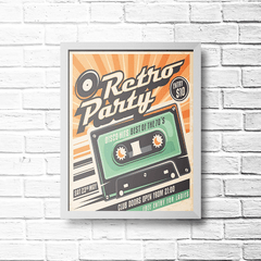 PLACA RETRO PARTY K7 - comprar online