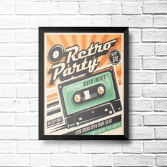 PLACA RETRO PARTY K7 na internet