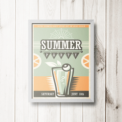 PLACA SUMMER PARTY - comprar online