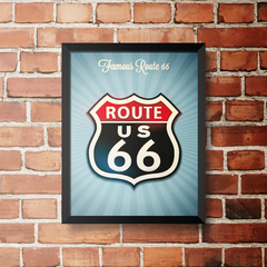 PLACA ROUTE 66 US na internet