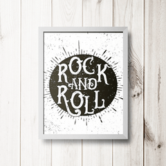 PLACA ROCK N ROLL 2 - comprar online