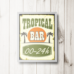 PLACA TROPICAL BAR - comprar online
