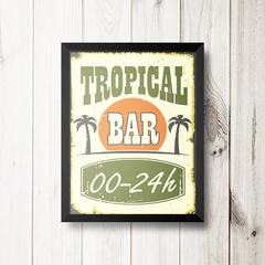 PLACA TROPICAL BAR na internet